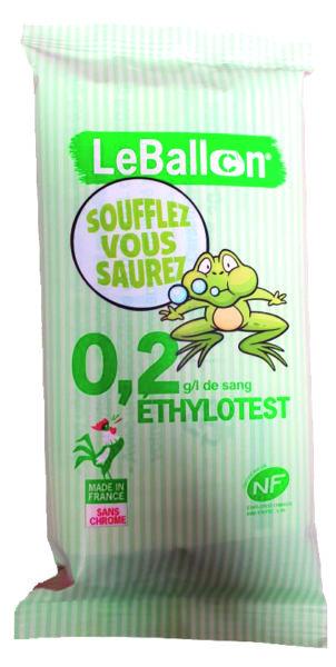 ÉTHYLOTEST 0,2 g/l de sang