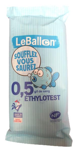 ÉTHYLOTEST 0,5 g/l de sang